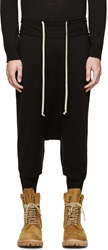 Rick Owens Black Wool Knit Pod Shorts