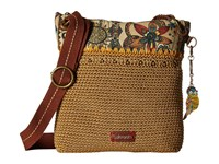 Sakroots Artist Circle Crochet Crossbody Camel Spirit Desert Cross Body Handbags Brown