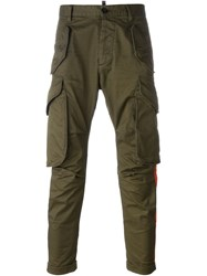 Dsquared2 Rainbow Applique Cargo Trousers Green