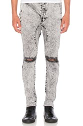 Daniel Patrick Low Crotch Ripped Skinny Jean Black Acid
