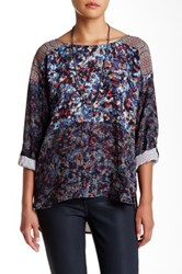 Plenty By Tracy Reese Long Sleeve Printed Hi Lo Tunic Multi