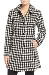 Kate Spade Women's New York Houndstooth Wool Blend Coat