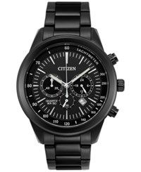 Citizen Men's Chronograph Quartz Black Ion Plated Stainless Steel Bracelet Watch 46Mm An8155 52E A Macy's Exclusive Style