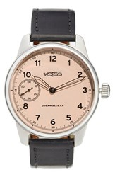 Men's Weiss Watch Company 'Special Issue' Leather Strap Watch 42Mm