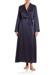 La Perla Vestaglia Long Silk Wrap Robe Blue