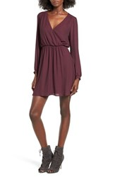 Lush Women's 'Emma' Surplice Skater Dress