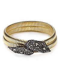 Alexis Bittar Crystal Encrusted Coiled Bangle Gold