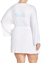 Plus Size Women's Honeydew Intimates 'All American' Robe White Something Blue