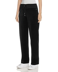 Calvin Klein Velour Track Pants Black