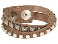 Leather Rock B337 Brown Bracelet