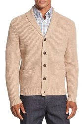 Wallin And Bros Elbow Patch Cardigan Brown