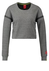 Nike Sportswear Crew Sweatshirt Tumbled Grey Bright Crimson Mottled Grey