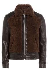 Alexander Mcqueen Leather Jacket With Wool Multicolor