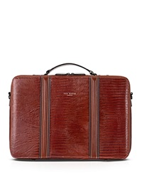 Ted Baker Gekkon Leather Brief Dark Orange