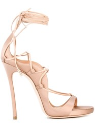 Dsquared2 Lacing Sandals Pink Purple