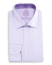 English Laundry Zigzag Woven Dress Shirt Purple