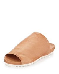Charles David Dante Leather Slide Sandal Tan