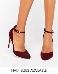 Asos Playwright High Heels Burgundy Red