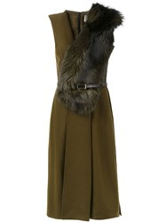 Jason Wu Fox Fur Dress Brown