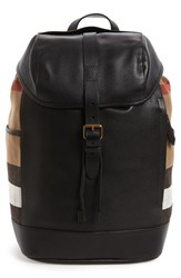 Burberry Men's Drifton Leather And Canvas Backpack