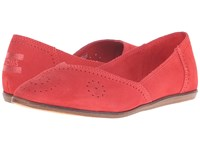 Toms Jutti Flat Cayenne Suede Perforated Women's Flat Shoes Pink