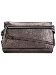 Hogan Textured Cross Body Bag Brown