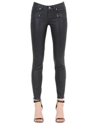 Paige Jane Zip Skinny Fit Coated Denim Jeans