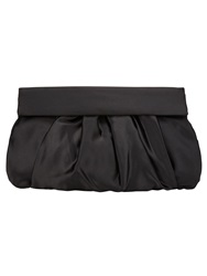 Phase Eight Dixie Satin Clutch Bag Black