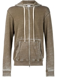 Fadeless 'Burn Out' Hoodie Green