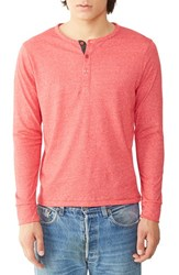 Alternative Apparel Men's Heathered Henley