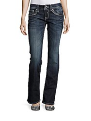 Vigoss Washed Whiskered Jeans Dark Wash