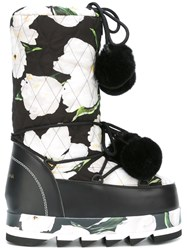Dolce And Gabbana Platform Boots Black