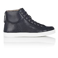 Gianvito Rossi Men's Back Zip High Top Sneakers Navy