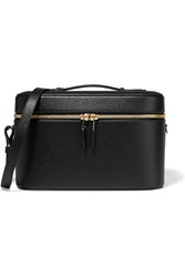 Smythson Panama Textured Leather Vanity Case Black