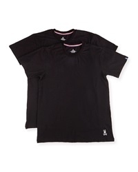 Psycho Bunny Tagless Motion Crewneck Jersey Tee Set Black