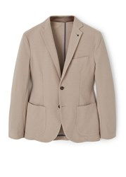 Mango Structured Cotton Blazer Brown