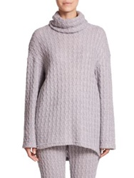 Csbla Jasmin Slouchy Cable Knit Sweater Heather Grey