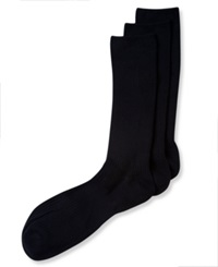 Perry Ellis Men's Socks C Fit Non Binding Comfort Crew 3 Pack Black