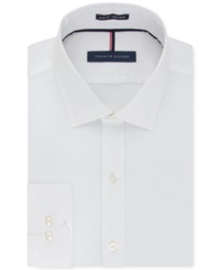 Tommy Hilfiger Slim Fit Non Iron Soft Wash Solid Dress Shirt White