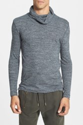 Antony Morato Extra Trim Fit Cowl Neck Hooded Sweater Gray