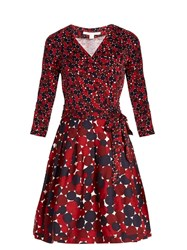 Diane Von Furstenberg Jewel Dress Red Multi