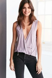 Silence And Noise Raven Deep V Tie Neck Tank Top Lilac
