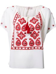 Tory Burch 'Camille' Blouse White