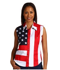 Scully Sleeveless Patriot Shirt Red Women's Clothing