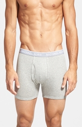 Michael Kors Cotton And Modal Boxer Briefs Assorted 3 Pack Carbon Heather