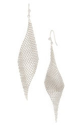 Jules Smith Designs Mesh Fan Drop Earrings Silver