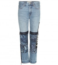 Marc By Marc Jacobs Acanthus Patched Printed High Rise Jeans Blue
