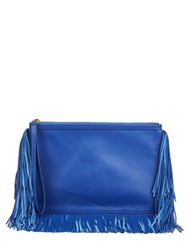 Pierre Hardy Fringed Leather Clutch Blue