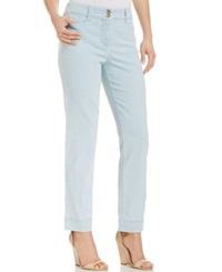 Charter Club Skinny Ankle Jeans Feather Blue