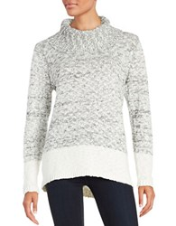 Karl Lagerfeld Knit Cowlneck Sweater Black White